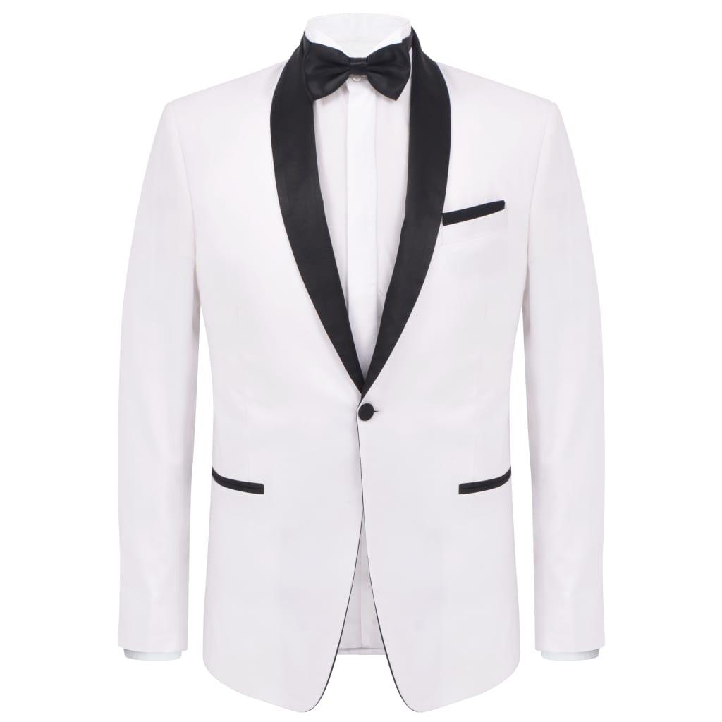 vidaXL Pánský dvoudílný večerní oblek/smoking vel.54, bílý