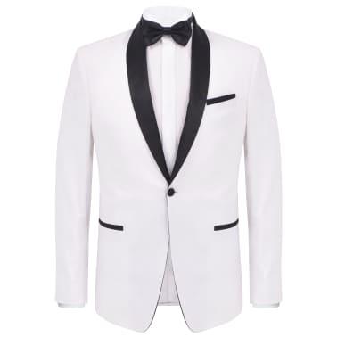 vidaXL Frac/Costum de seară bărbătesc, 2 piese, mărime 54 alb[2/10]
