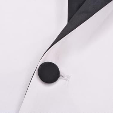 vidaXL Frac/Costum de seară bărbătesc, 2 piese, mărime 54 alb[8/10]