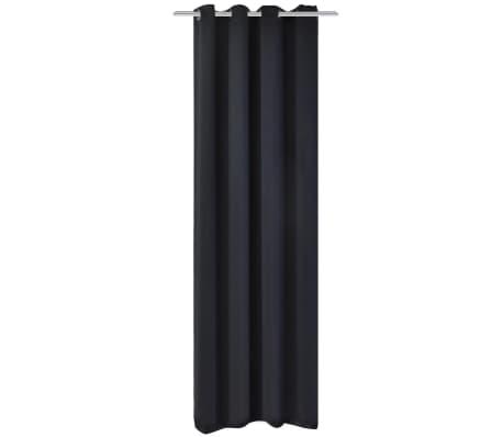 vidaXL Draperie opacă, ocheți metalici, 270 x 245 cm, negru