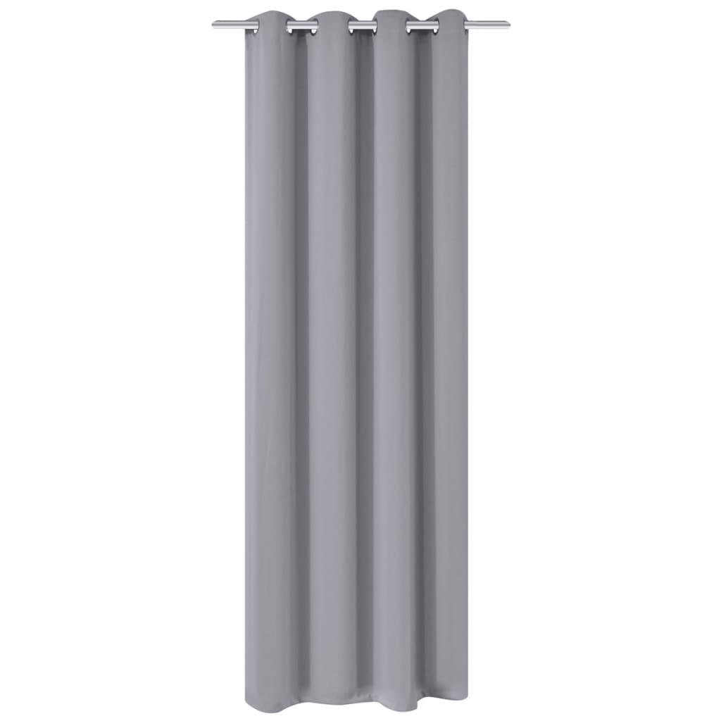 999132206 Verdunkelungsvorhang mit Metallösen 270 x 245 cm Grau