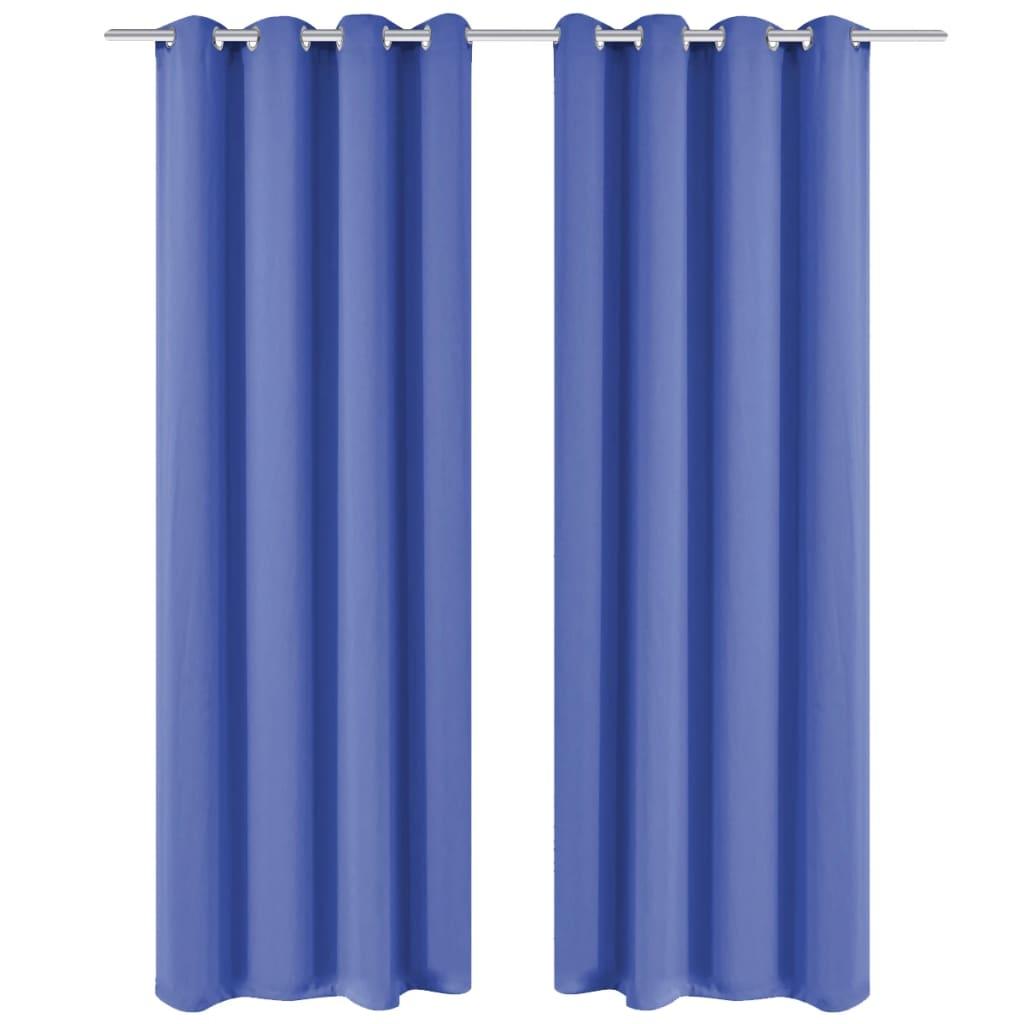 vidaXL Zatemňovací závěs s kovovými oky, 270x245 cm, modrý