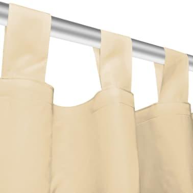 vidaXL Vorhänge aus Mikro-Satin 2 Stk. mit Schlaufen 140×175 cm Beige[4/4]