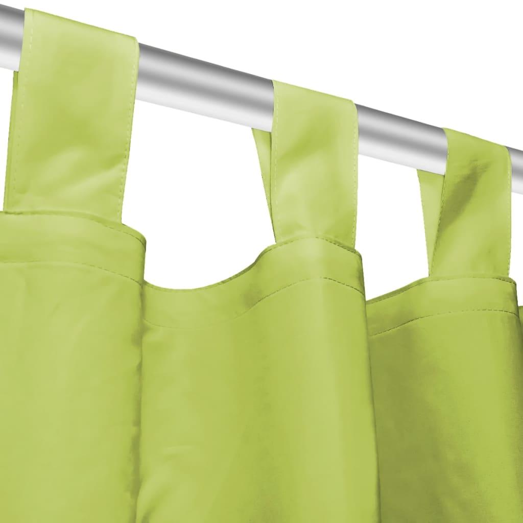 11d3d72d453 vidaXL aasadega mikrosatiinist kardinad 2 tk 140 x 175 cm, roheline