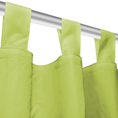 vidaXL Draperii micro-satin cu bride, 2 buc, 140 x 245 cm, verde[4/4]