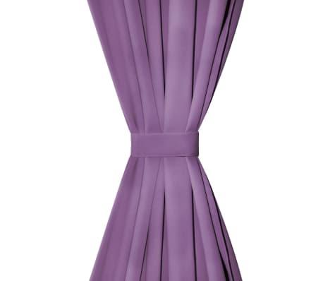 vidaXL Draperii micro-satin cu bride, 2 buc, 140 x 175 cm, violet[3/4]