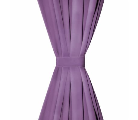 vidaXL Draperii micro-satin cu bride, 2 buc, 140 x 245 cm, violet[3/4]