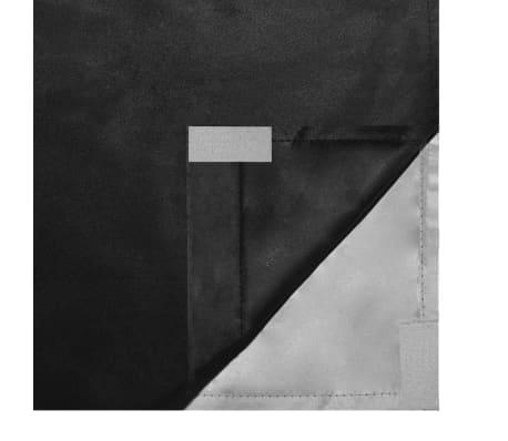 vidaXL Draperii opace, 2 buc., strat dublu, 140 x 175 cm, negru[5/5]