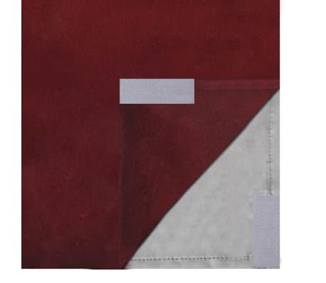 vidaXL Gordijnen verduisterend dubbellaags 140x175 cm bordeaux 2 st ...