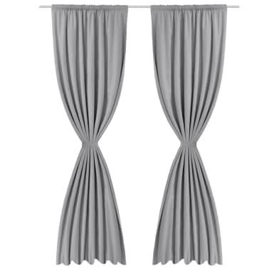 acheter vidaxl rideau occultant 2 pcs double couche 140 x. Black Bedroom Furniture Sets. Home Design Ideas