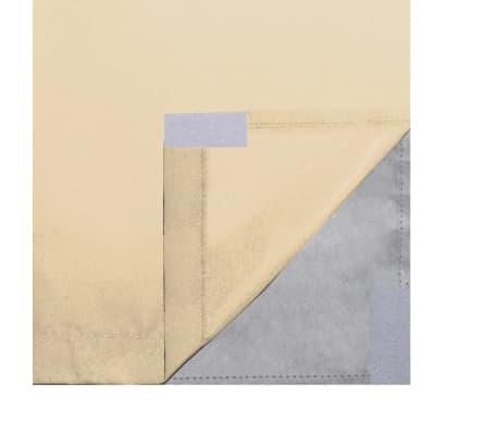 vidaXL Zatemňovací záves, 2 ks, dvojvrstvový, 140x175 cm, béžový[5/5]
