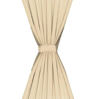 vidaXL Zatemňovací záves, 2 ks, dvojvrstvový, 140x175 cm, béžový[4/5]