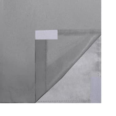 vidaXL Verdunkelungsvorhänge 2 Stk. Doppellagig 140 x 245 cm Grau[5/5]