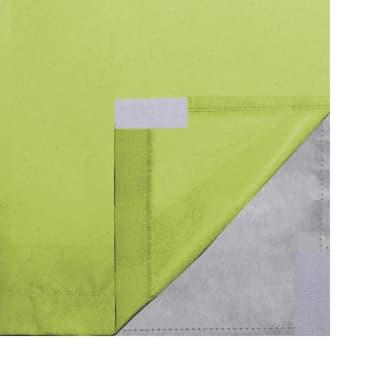 vidaXL Zatemňovací závěsy, 2 ks, dvouvrstvé, 140x245 cm, zelené[5/5]