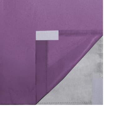 vidaXL Zatemňovací závěsy, 2 ks, dvouvrstvé, 140x245 cm, fialové[5/5]