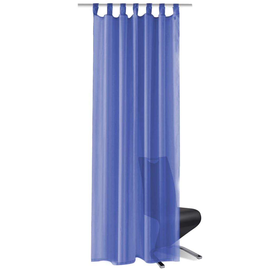 vidaXL Voálové závěsy, 2 ks, 140x175 cm, královská modř
