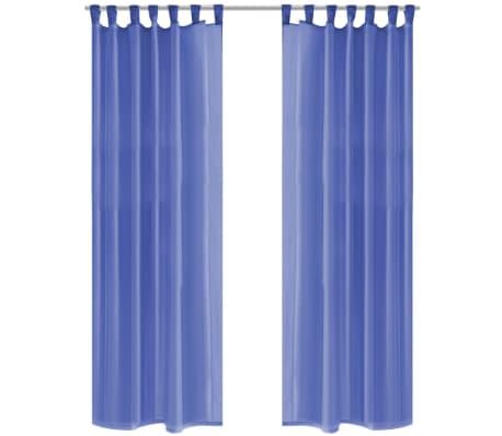 acheter vidaxl rideau occultant 2 pcs voile 140 x 225 cm bleu royal pas cher. Black Bedroom Furniture Sets. Home Design Ideas