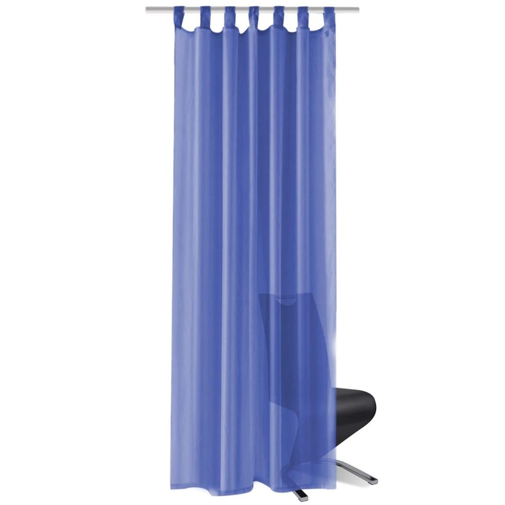 vidaXL Voálové závěsy, 2 ks, 140x245 cm, královská modř