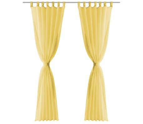 vidaXL Gordijnen voile 140x175 cm geel 2 st online kopen | vidaXL.nl