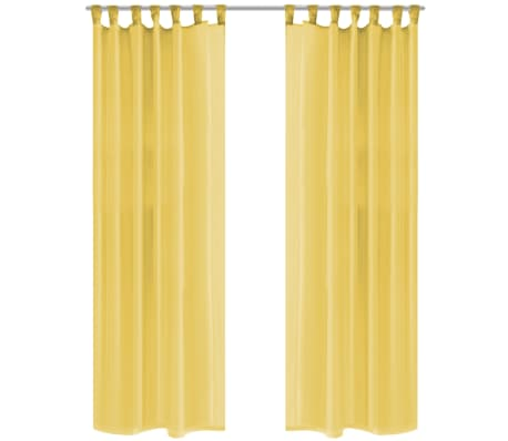 acheter vidaxl rideau occultant 2 pcs voile 140 x 225 cm jaune pas cher. Black Bedroom Furniture Sets. Home Design Ideas