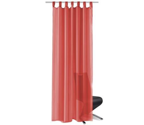 Vidaxl cortinas de gasa 2 unidades 140x245 cm rojo - Cortinas de gasa ...