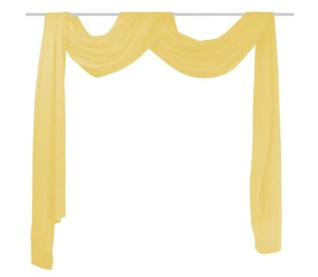 acheter vidaxl rideau voile 140 x 600 cm jaune pas cher. Black Bedroom Furniture Sets. Home Design Ideas