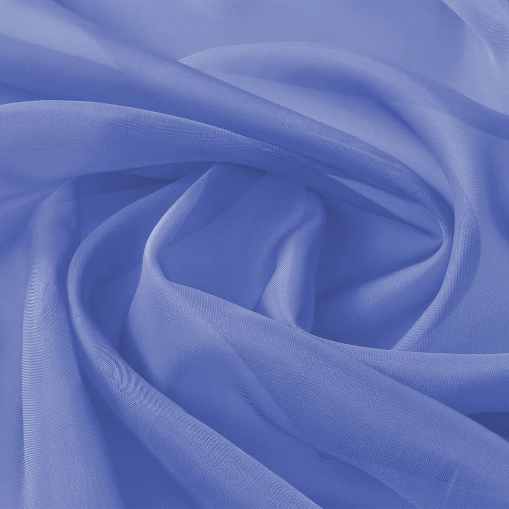vidaXL Țesătură de voal 1,45 x 20 m, albastru regal imagine vidaxl.ro