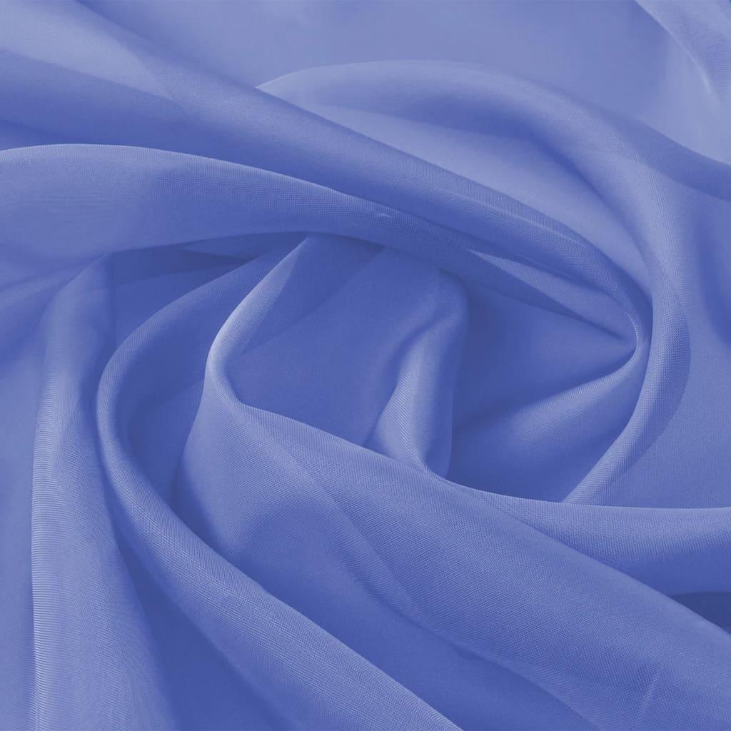vidaXL Voálová tkanina, 1,45x20 m, královská modř