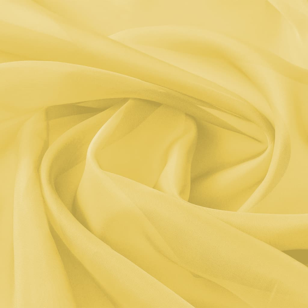 vidaXL Țesătură din voal 1,45 x 20 m, galben imagine vidaxl.ro