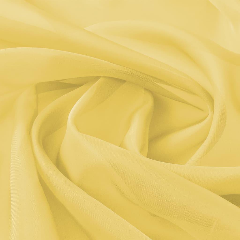 vidaXL Voálová tkanina, 1,45x20 m, žlutá