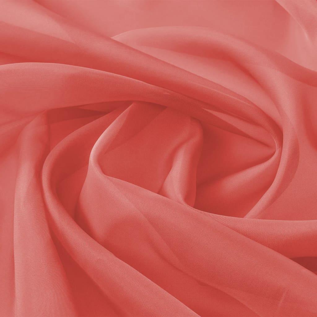 vidaXL Voálová tkanina, 1,45x20 m, červená