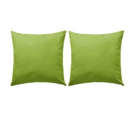 vidaXL Perne de exterior, 2 buc., verde măr, 45 x 45 cm