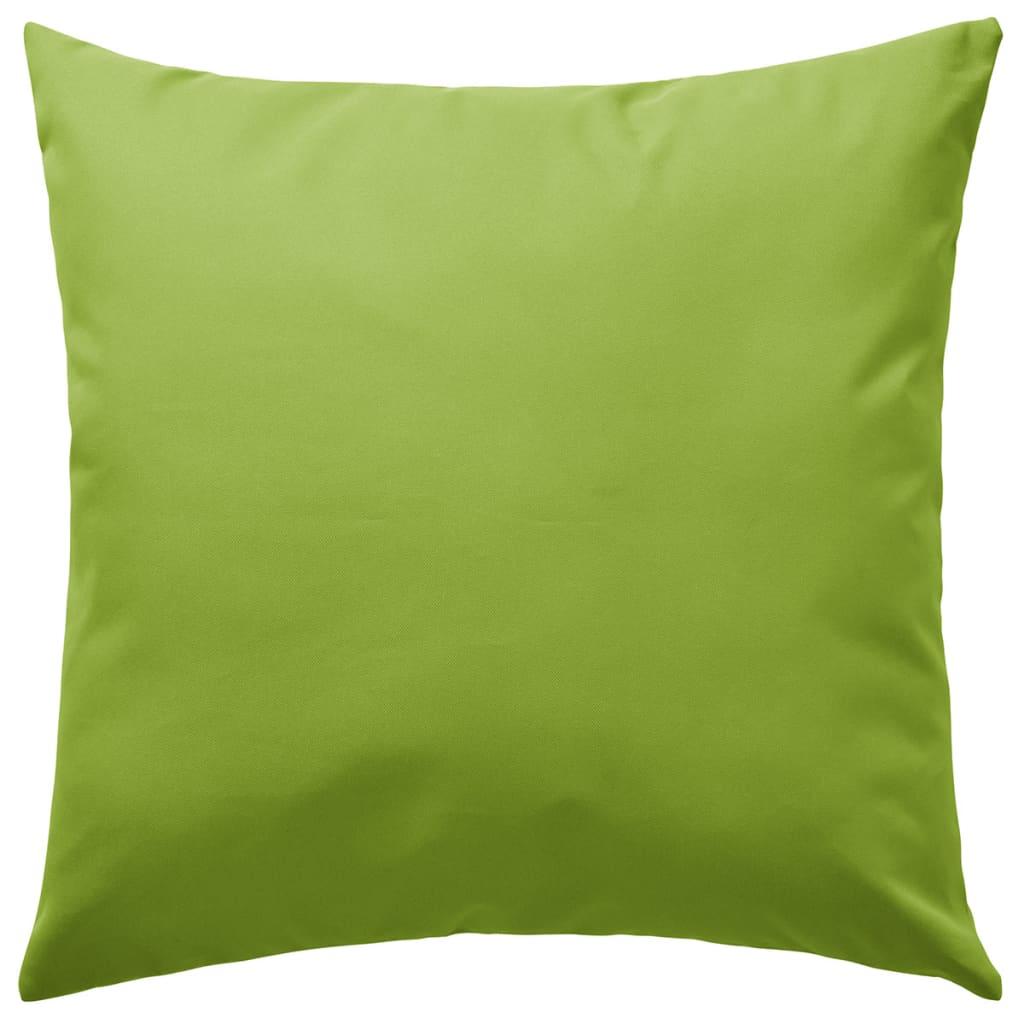 vidaXL Venkovní polštářky 4 ks 45x45 cm jablkově zelená