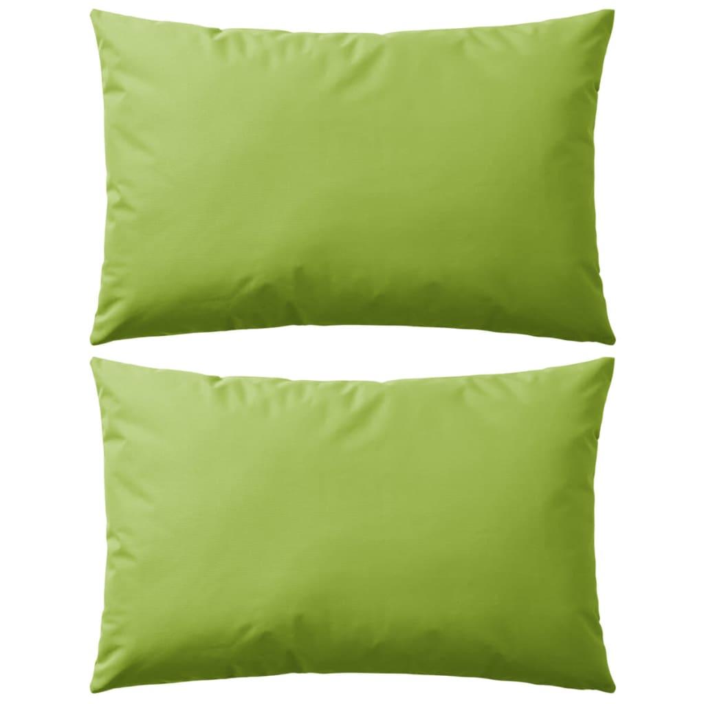 999132292 Gartenkissen 2 Stk. 60 x 40 cm Apfelgrün