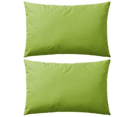 vidaXL Perne de exterior, 2 buc., verde măr, 60 x 40 cm
