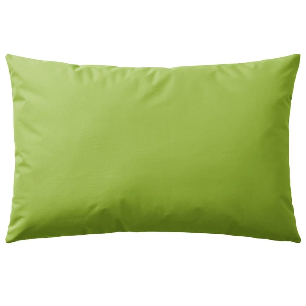 vidaXL Venkovní polštářky 4 ks 60x40 cm jablkově zelená