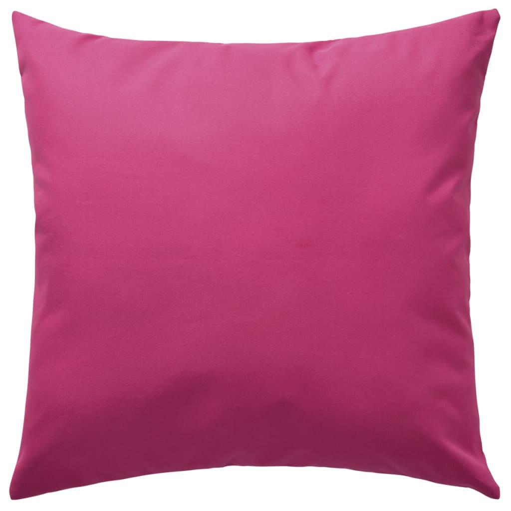 vidaXL Venkovní polštáře 2 ks 45x45 cm růžová