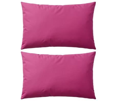 vidaXL Perne de exterior, 2 buc, 60x40 cm, roz