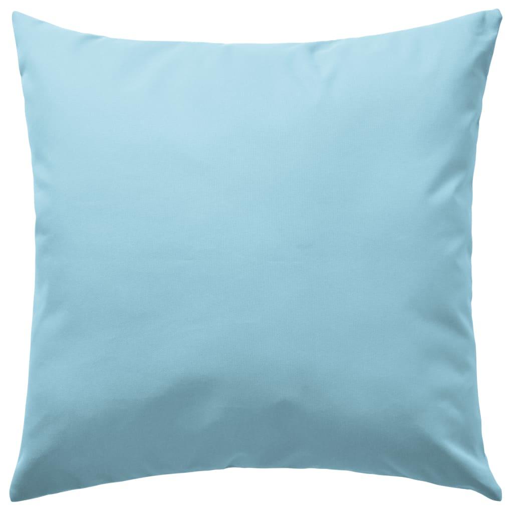 vidaXL Venkovní polštáře 2 ks 45x45 cm světle modrá
