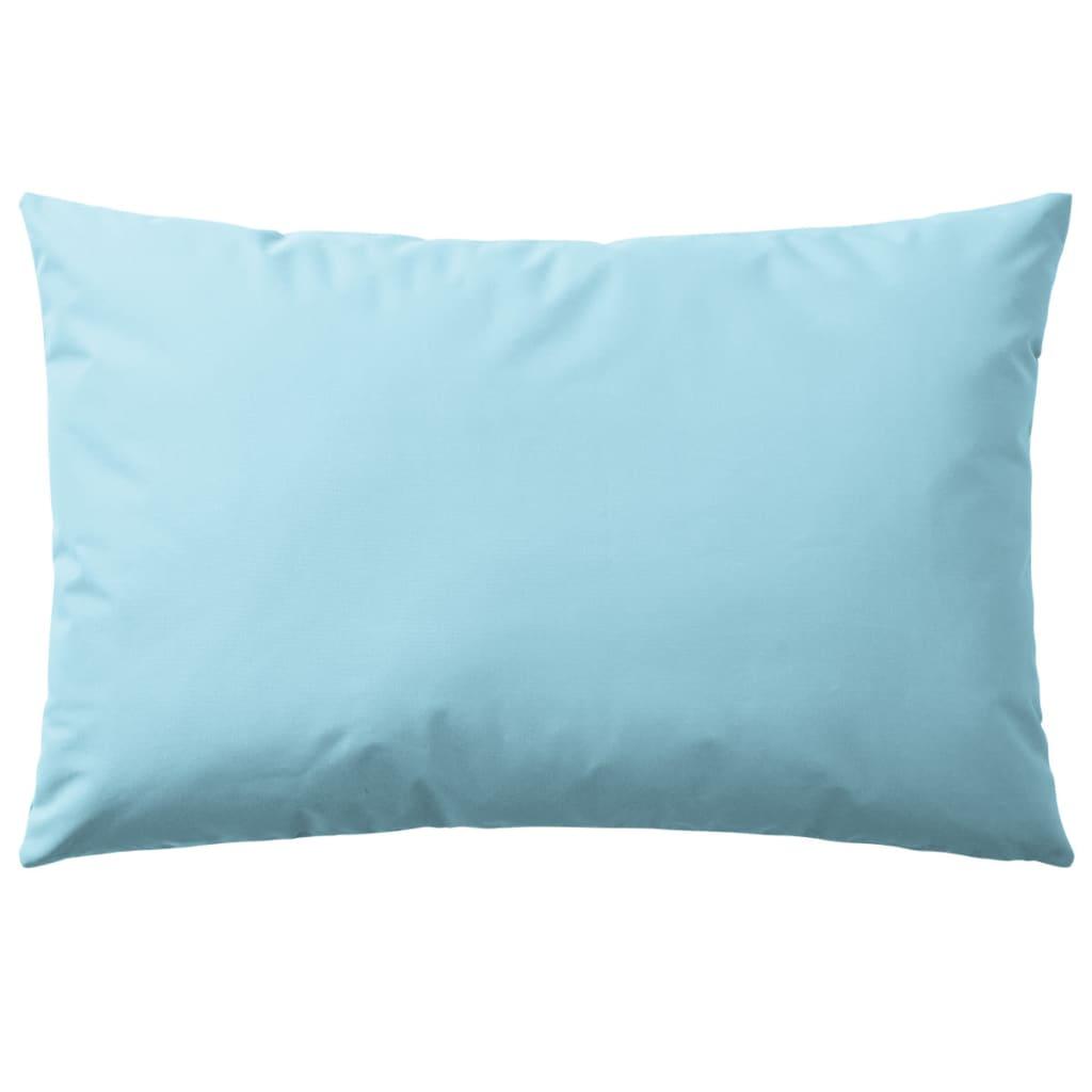 vidaXL Venkovní polštáře 2 ks 60x40 cm světle modrá