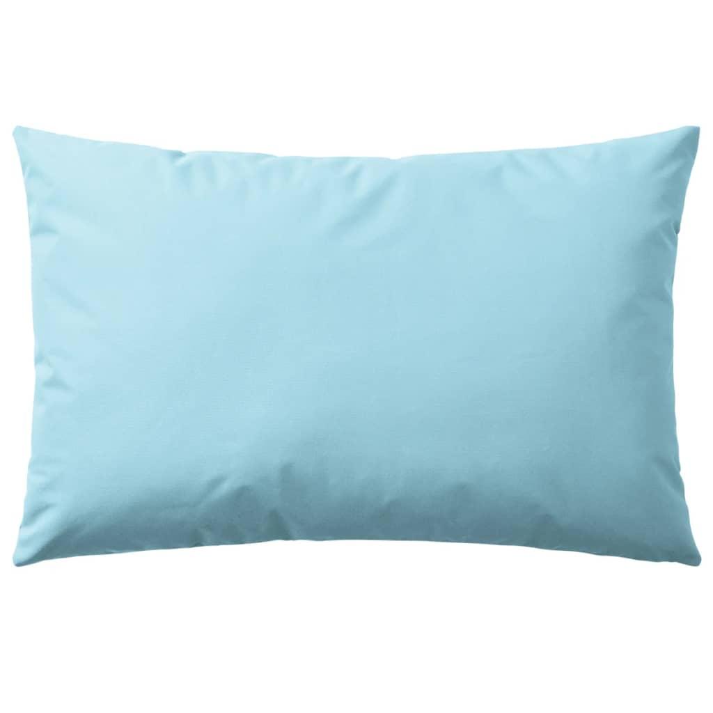 vidaXL Venkovní polštáře 4 ks 60x40 cm světle modrá