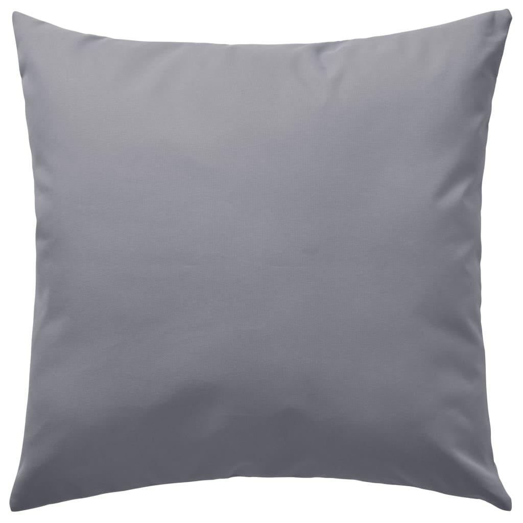 vidaXL Venkovní polštářky 2 ks 45x45 cm šedé