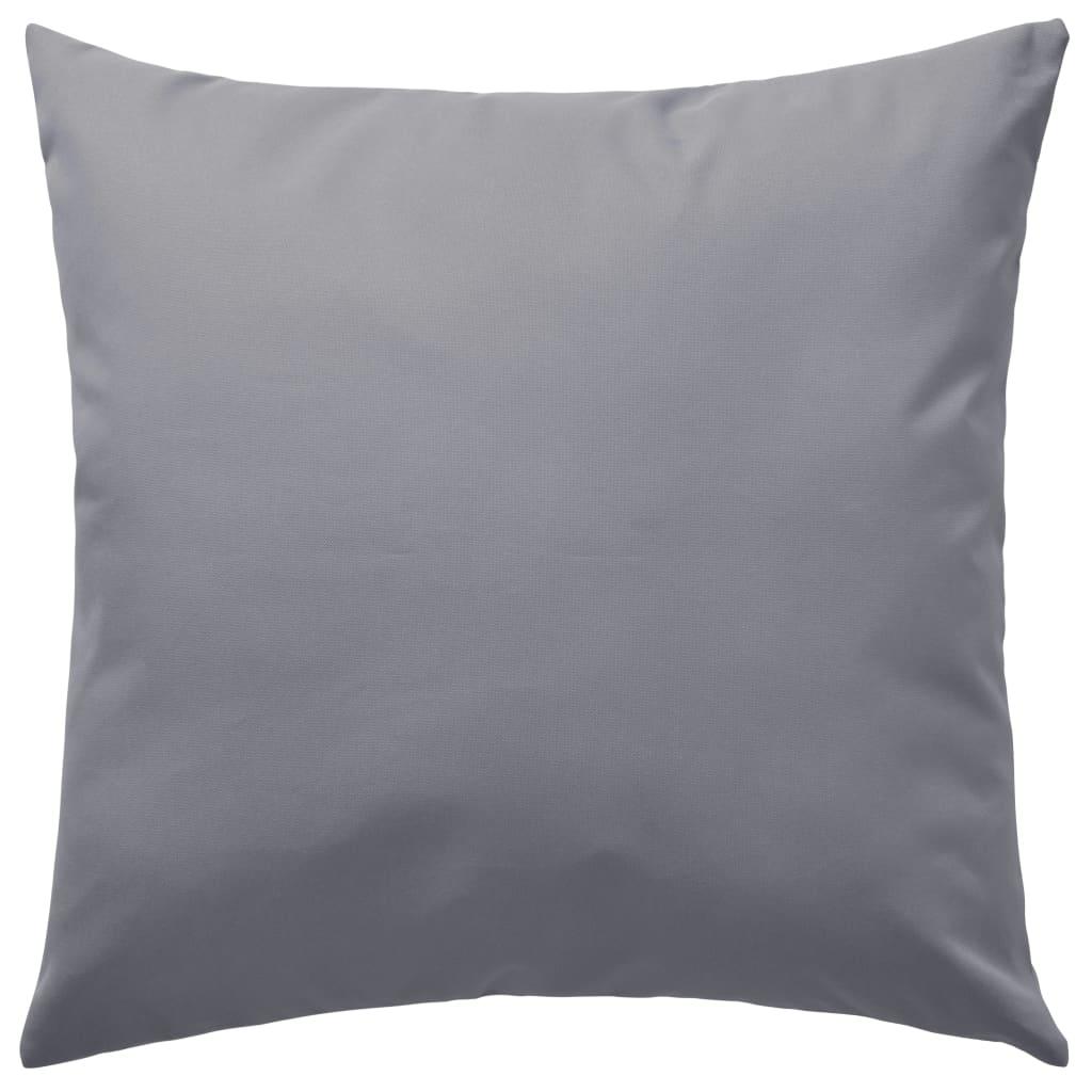 vidaXL Venkovní polštářky 4 ks 45x45 cm šedé