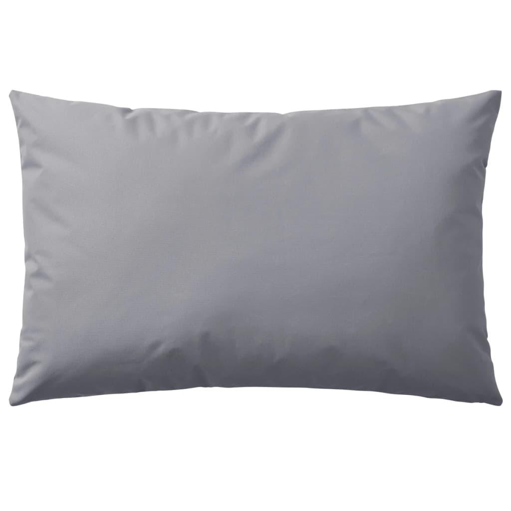 vidaXL Venkovní polštáře 4 ks 60x40 cm šedé
