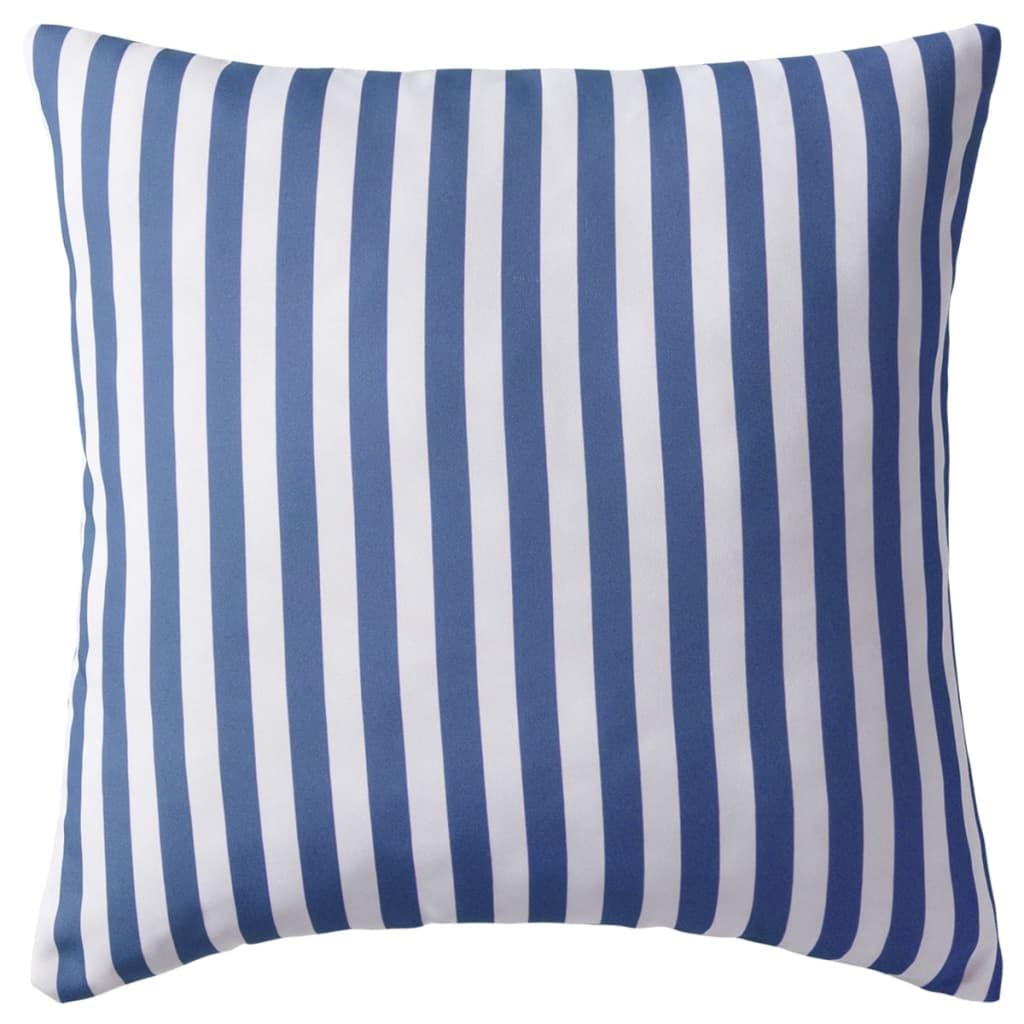 vidaXL Venkovní polštáře 2 ks pruhované 45x45 cm námořnická modrá