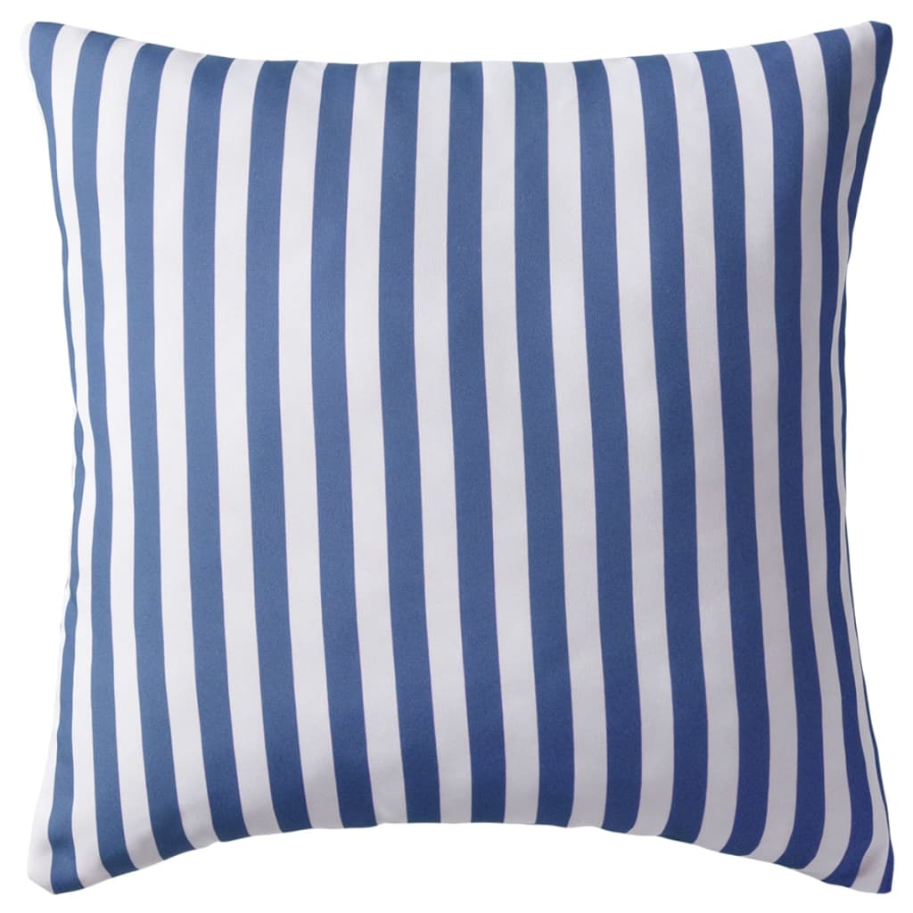vidaXL Venkovní polštáře 4 ks pruhované 45x45 cm námořnická modrá