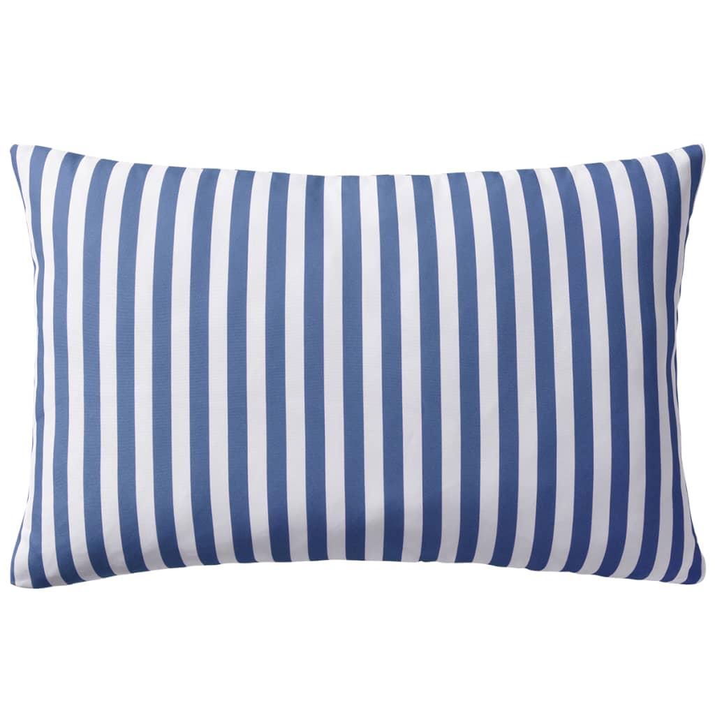 vidaXL Venkovní polštáře 2 ks pruhované 60x40 cm námořnická modrá
