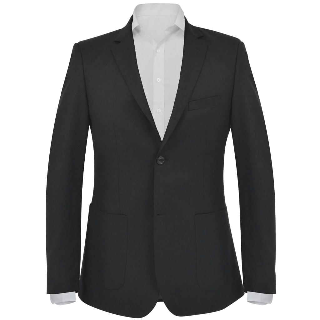 vidaXL Sacou business bărbați, mărime 48, negru imagine vidaxl.ro