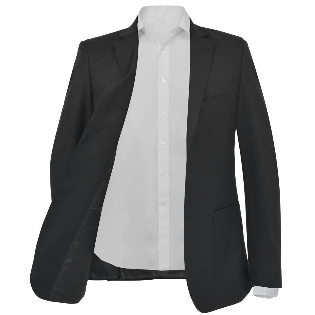 vidaXL Pánské business sako, černé, vel. 48