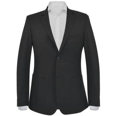 vidaXL Blazer pour hommes Taille 50 Noir[1/6]